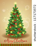 vector christmas tree | Shutterstock .eps vector #117173572