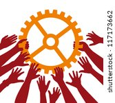 teamwork | Shutterstock .eps vector #117173662
