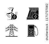 electric power industry glyph... | Shutterstock .eps vector #1171737082