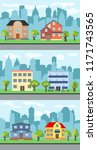 set of three vector... | Shutterstock .eps vector #1171743565