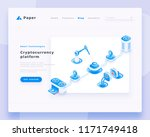 cryptocurrency platform... | Shutterstock .eps vector #1171749418