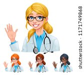 doctor with different hair and... | Shutterstock .eps vector #1171749868