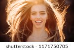 beautiful autumn woman happy... | Shutterstock . vector #1171750705