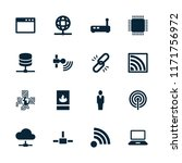 network icon. collection of 16... | Shutterstock .eps vector #1171756972