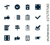 choice icon. collection of 16... | Shutterstock .eps vector #1171757182