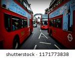 public transport in londen ... | Shutterstock . vector #1171773838