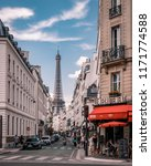 paris august 2018  peole at the ... | Shutterstock . vector #1171774588