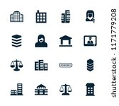 government icon. collection of... | Shutterstock .eps vector #1171779208