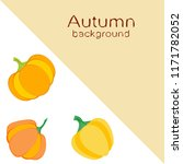 pumpkin autumn vector background | Shutterstock .eps vector #1171782052