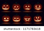 3d halloween carved pumpkin... | Shutterstock .eps vector #1171783618