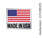 made in usa label icon with... | Shutterstock .eps vector #1171789195
