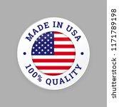 made in usa seal logo. vector... | Shutterstock .eps vector #1171789198
