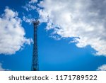 steel tower with cellular... | Shutterstock . vector #1171789522