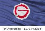 tomakomai city flag  country...   Shutterstock . vector #1171793395