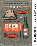 beer festival retro poster for... | Shutterstock .eps vector #1171804228