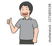 vector of man   Shutterstock .eps vector #1171805158