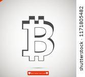 bitcoin icon vector  stock... | Shutterstock .eps vector #1171805482