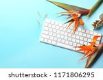 creative flat lay composition... | Shutterstock . vector #1171806295