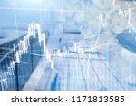 forex trading  financial market ... | Shutterstock . vector #1171813585