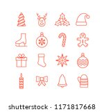 christmas element icon set