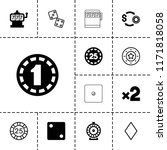 chance icon. collection of 13... | Shutterstock .eps vector #1171818058