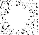 musical signs. modern... | Shutterstock .eps vector #1171819828