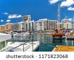 marina of ibiza island. port of ... | Shutterstock . vector #1171823068