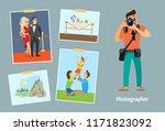 photographer with digital... | Shutterstock .eps vector #1171823092