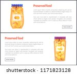 preserved food banners  fruit... | Shutterstock .eps vector #1171823128
