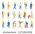 builders and engineers with... | Shutterstock .eps vector #1171824538