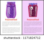 preserved food poster canned... | Shutterstock .eps vector #1171824712