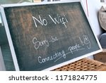 no wi fi sign. sorry  but... | Shutterstock . vector #1171824775