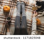 women's hands and feet in... | Shutterstock . vector #1171825048