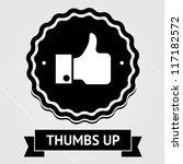 vintage thumbs up | Shutterstock .eps vector #117182572