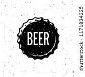 beer vintage emblem for poster  ... | Shutterstock .eps vector #1171834225