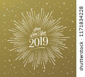 happy new year card with... | Shutterstock .eps vector #1171834228