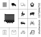 deliver icon. collection of 13... | Shutterstock .eps vector #1171846732
