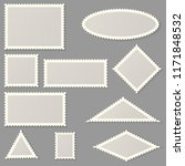 blank forms of postage stamps... | Shutterstock .eps vector #1171848532