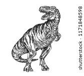 tyrannosaurus. sketch.... | Shutterstock .eps vector #1171848598
