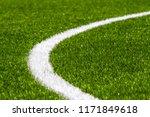 green synthetic grass soccer...   Shutterstock . vector #1171849618