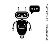 chatbot typing answer glyph... | Shutterstock .eps vector #1171856242