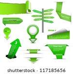 set of green vector progress ... | Shutterstock .eps vector #117185656