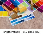 colour palette with painting... | Shutterstock . vector #1171861402
