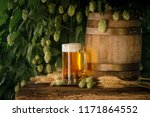 still life with a keg of beer... | Shutterstock . vector #1171864552