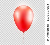 realistic  red baloon on... | Shutterstock .eps vector #1171867015