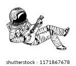 astronaut or spaceman soaring...   Shutterstock .eps vector #1171867678