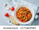 eggplant potato bell pepper... | Shutterstock . vector #1171869985