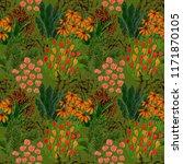 creative artistic floral... | Shutterstock . vector #1171870105