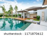 interior and exterior design of ... | Shutterstock . vector #1171870612