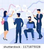 flat design business process... | Shutterstock .eps vector #1171875028